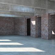 Industrial room 3d model