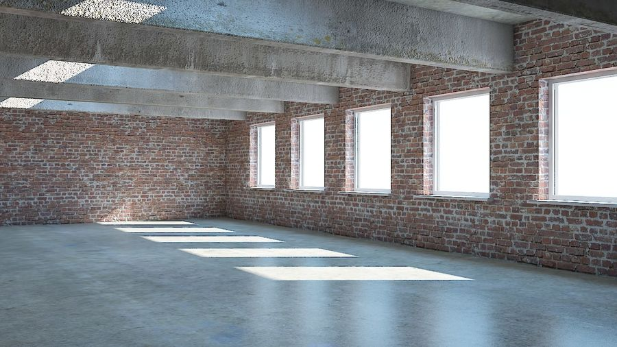 Industrial room royalty-free 3d model - Preview no. 3
