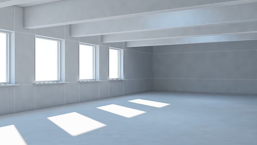 Industrial room royalty-free 3d model - Preview no. 7
