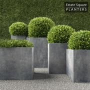 RH Square Planters 3d model