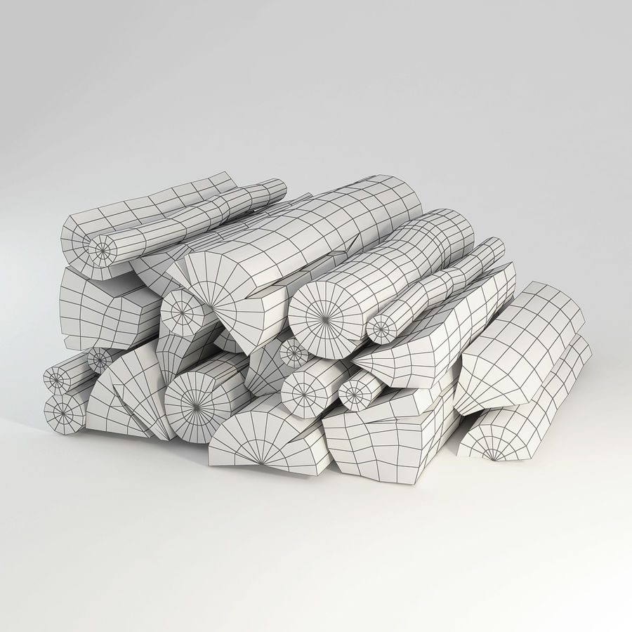 logs royalty-free 3d model - Preview no. 2