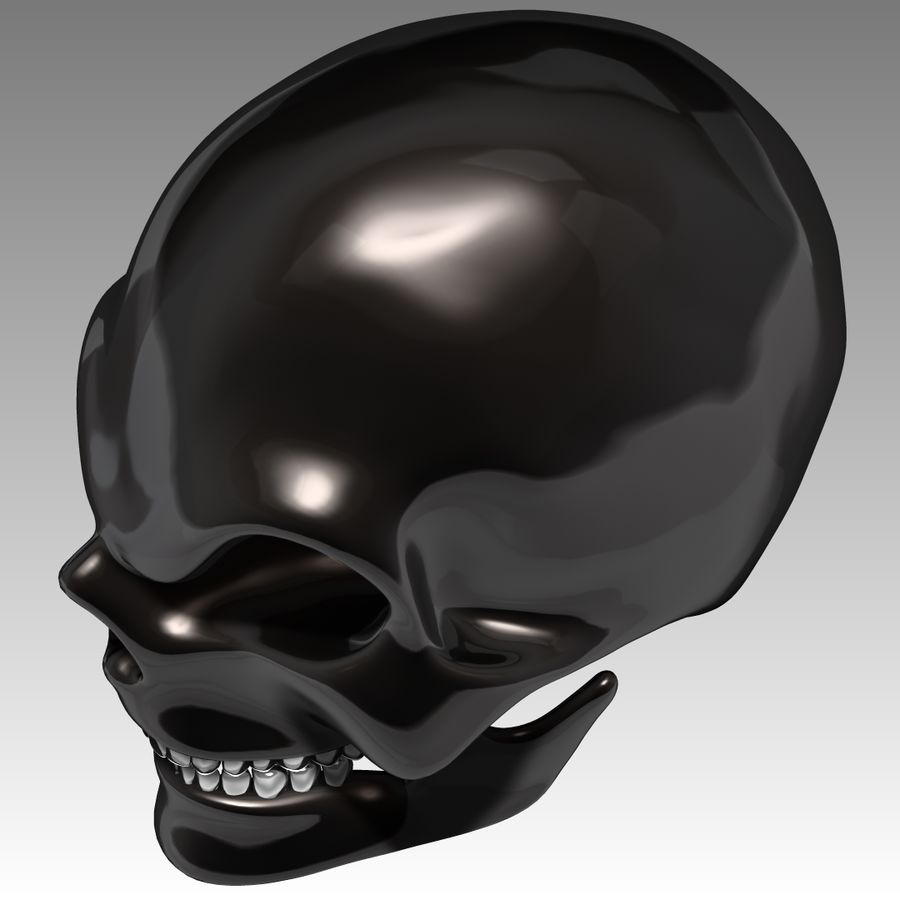 Schädel royalty-free 3d model - Preview no. 6