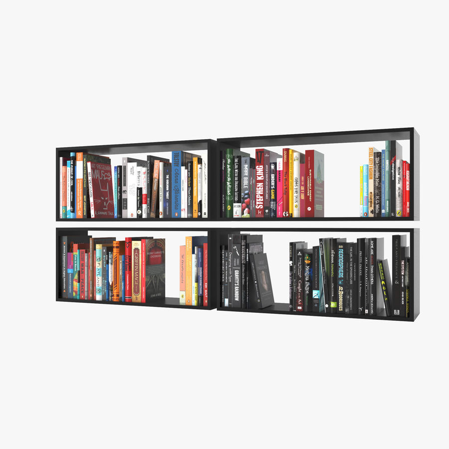 100 Modern Books royalty-free 3d model - Preview no. 6