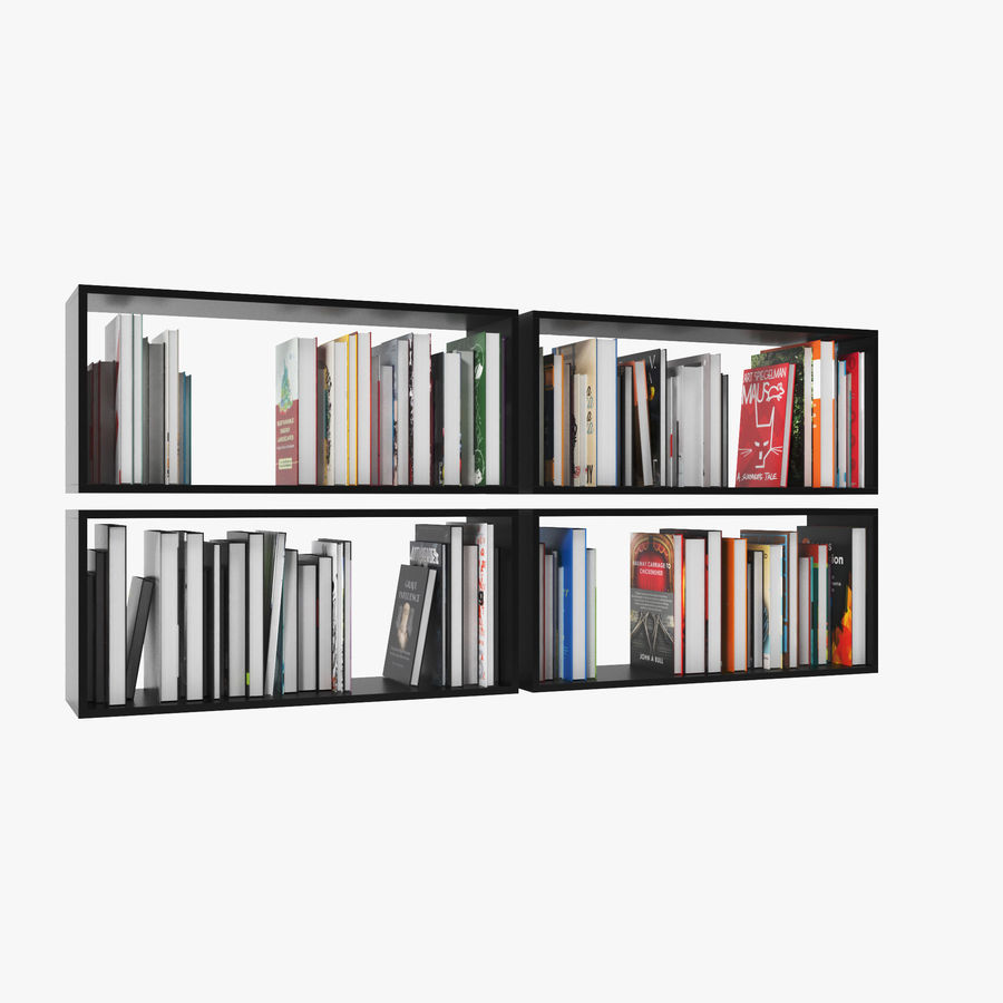 100 Modern Books royalty-free 3d model - Preview no. 7
