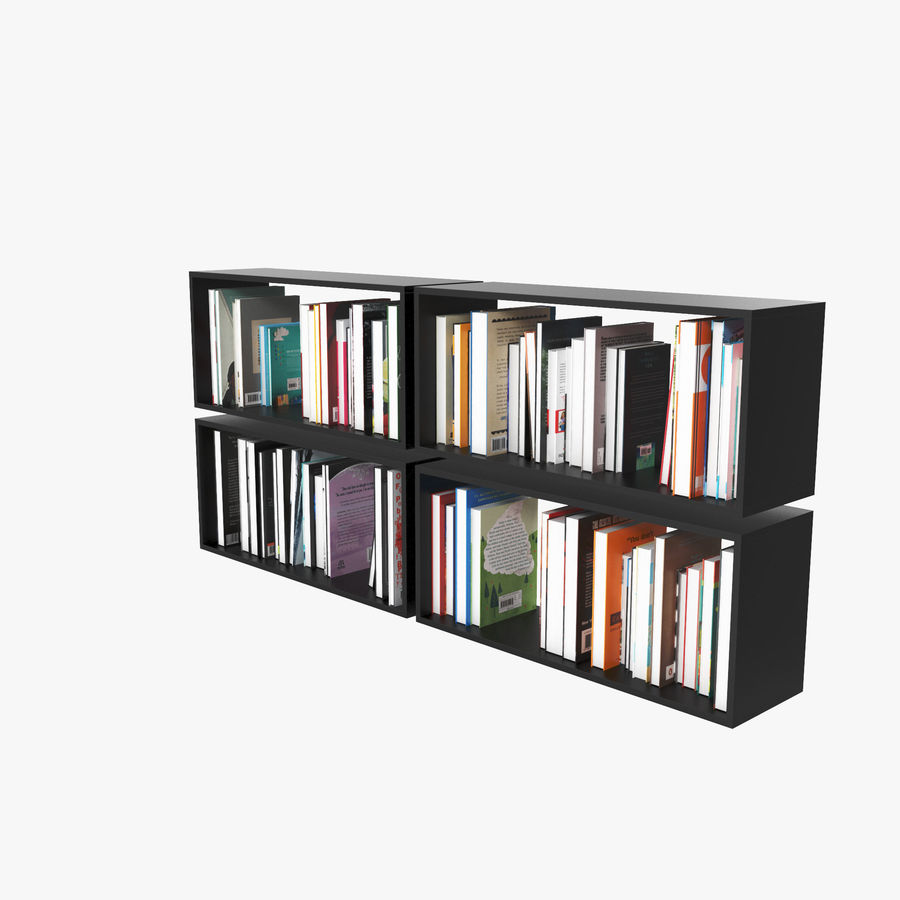 100 Modern Books royalty-free 3d model - Preview no. 5