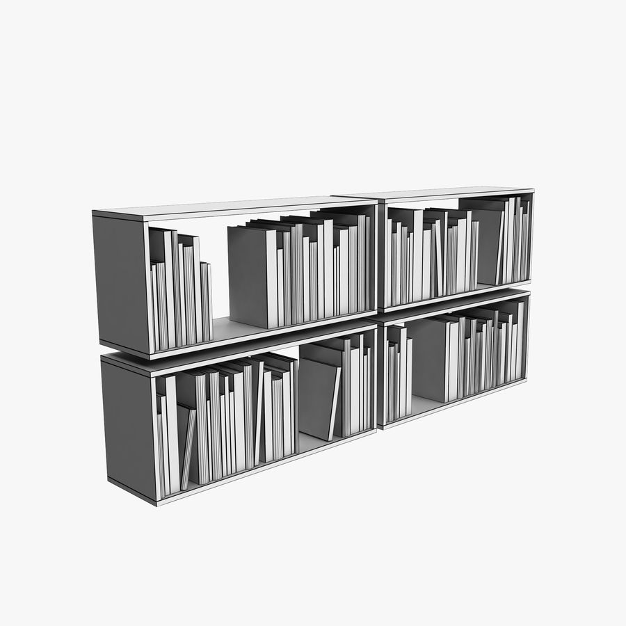 100 Modern Books royalty-free 3d model - Preview no. 9
