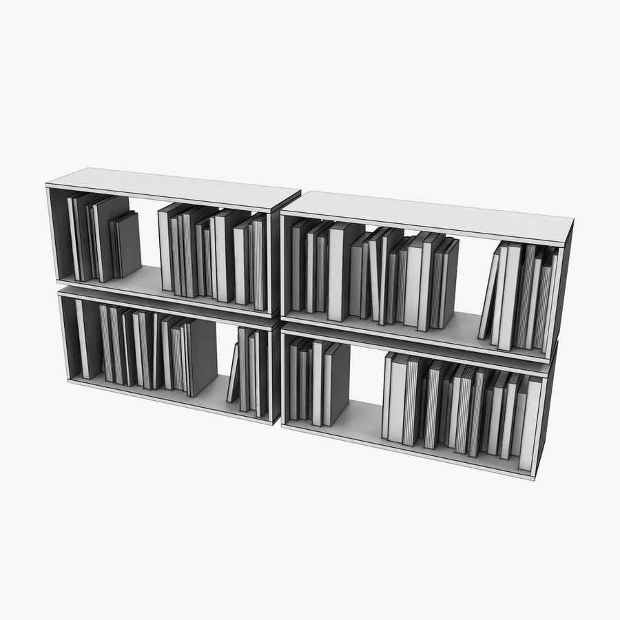 100 Modern Books royalty-free 3d model - Preview no. 8