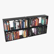 100 moderne Bücher 3d model