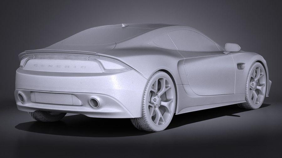 Дженерик Купе 2016 royalty-free 3d model - Preview no. 12