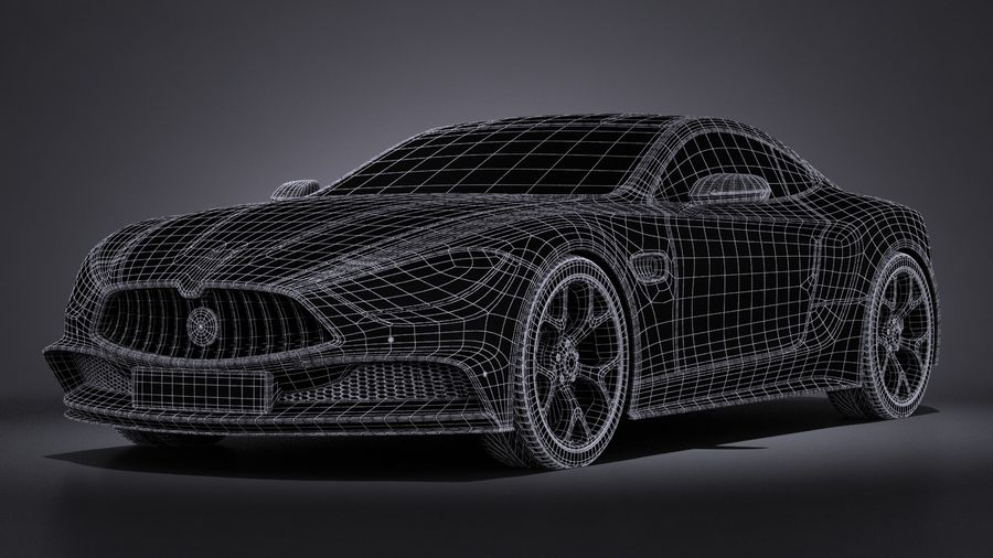 Дженерик Купе 2016 royalty-free 3d model - Preview no. 15