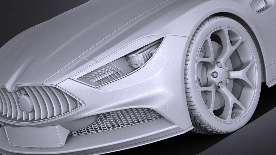 Дженерик Купе 2016 royalty-free 3d model - Preview no. 10