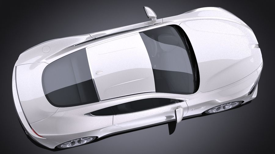 Дженерик Купе 2016 royalty-free 3d model - Preview no. 8