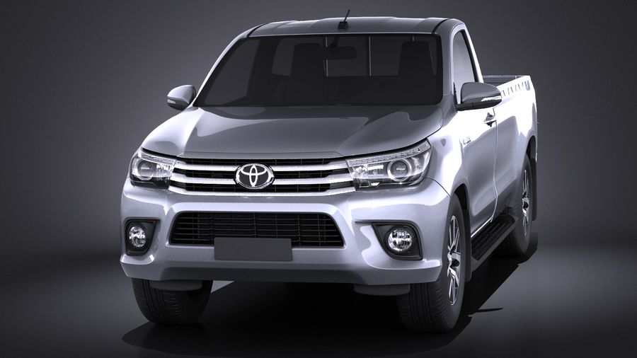 Toyota Hilux Regular Cab 2016 royalty-free 3d model - Preview no. 2