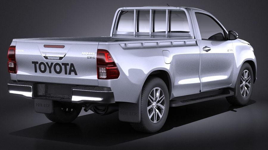 Toyota Hilux Regular Cab 2016 royalty-free 3d model - Preview no. 6