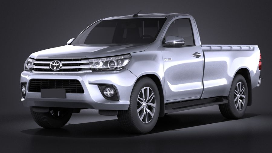 Toyota Hilux Regular Cab 2016 royalty-free 3d model - Preview no. 1