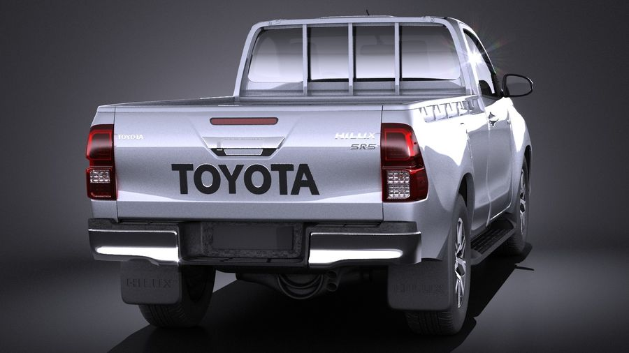 Toyota Hilux Regular Cab 2016 royalty-free 3d model - Preview no. 5