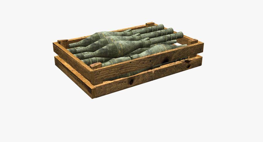 Scatola di legno con munizioni royalty-free 3d model - Preview no. 5
