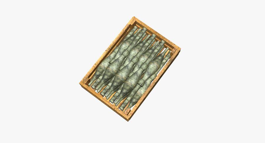 Scatola di legno con munizioni royalty-free 3d model - Preview no. 4