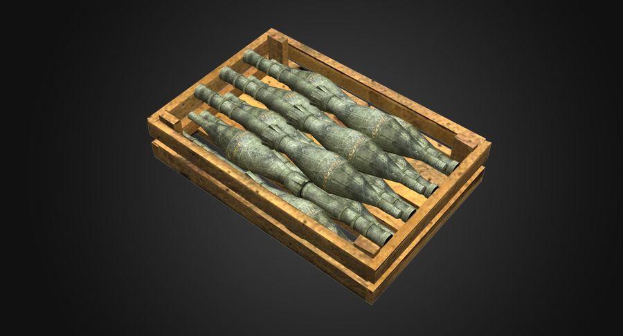 Scatola di legno con munizioni royalty-free 3d model - Preview no. 3
