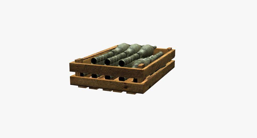 Scatola di legno con munizioni royalty-free 3d model - Preview no. 6