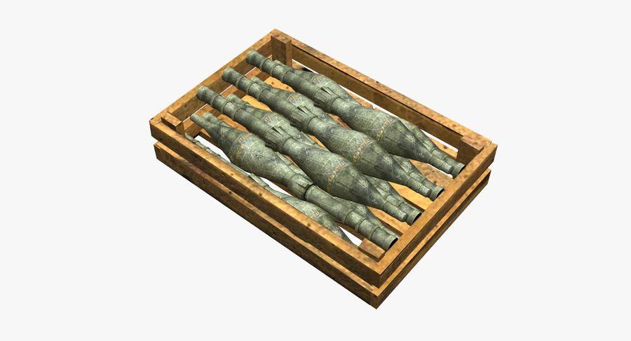 Scatola di legno con munizioni royalty-free 3d model - Preview no. 2