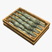 Wooden Box With Ammo 3d model