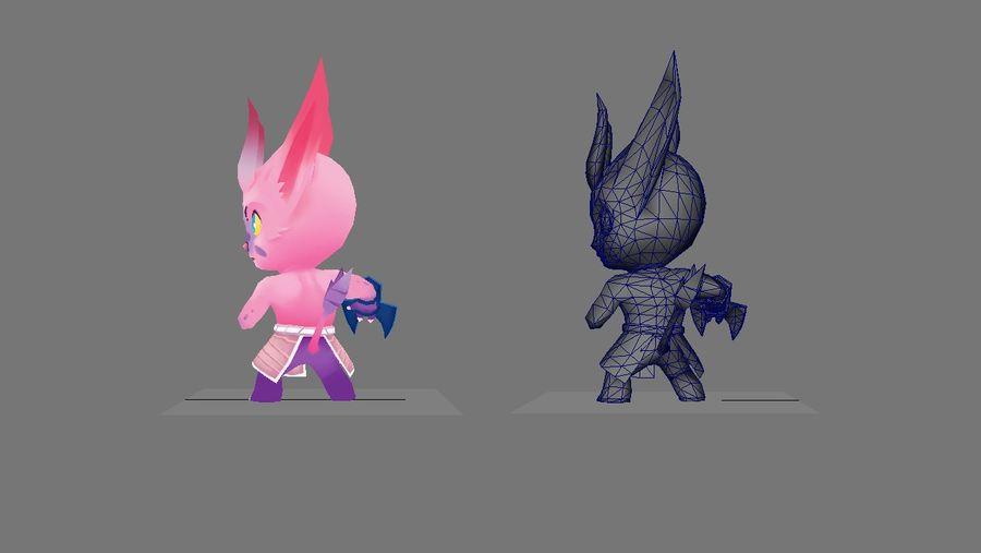 Personagem de animação 2 royalty-free 3d model - Preview no. 2