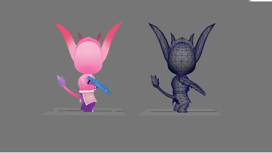Personagem de animação 2 royalty-free 3d model - Preview no. 4
