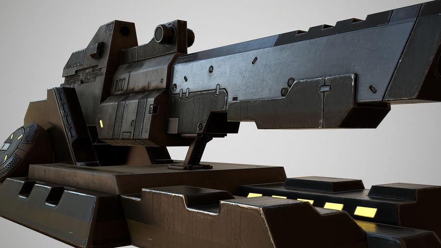 Sci-fi turret royalty-free 3d model - Preview no. 5