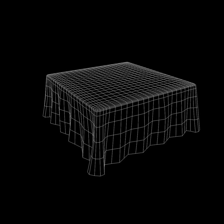 TableCloth quadrato royalty-free 3d model - Preview no. 8