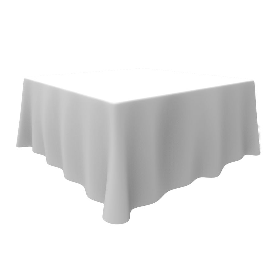 TableCloth cuadrado royalty-free modelo 3d - Preview no. 6