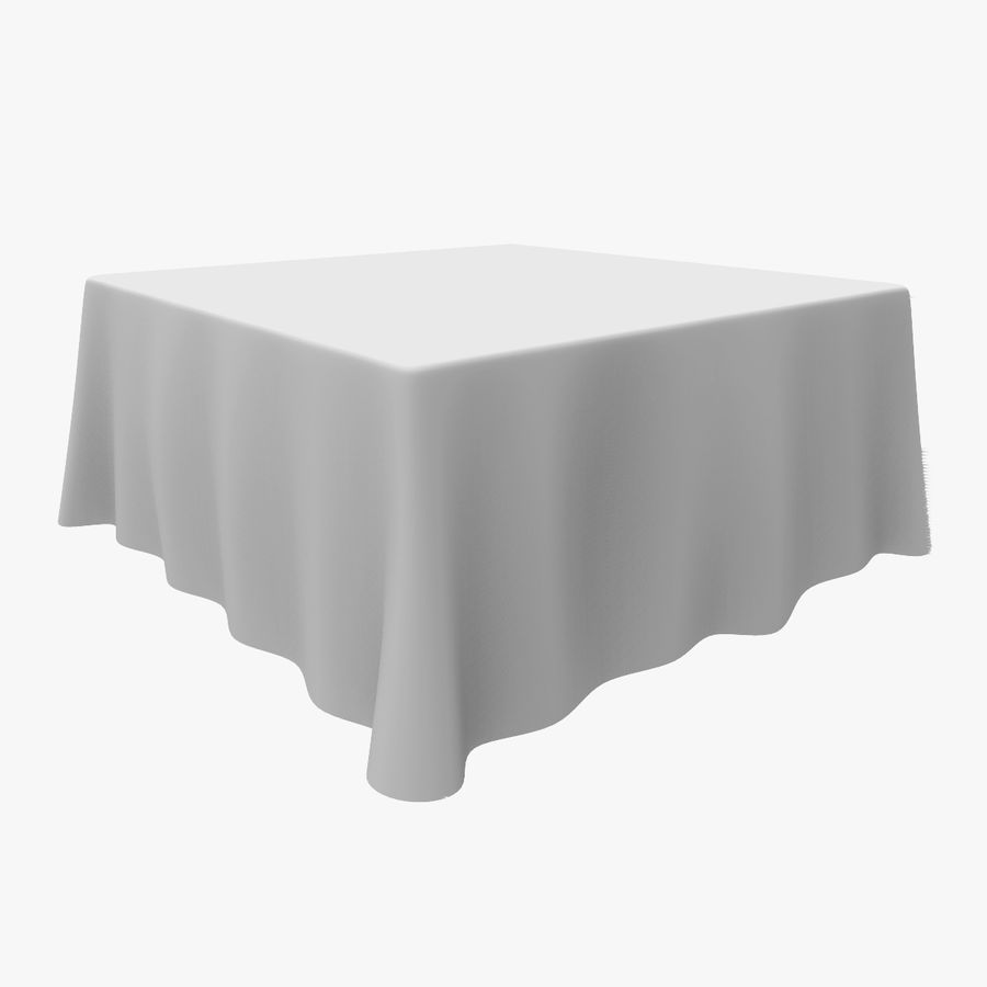TableCloth quadrato royalty-free 3d model - Preview no. 1