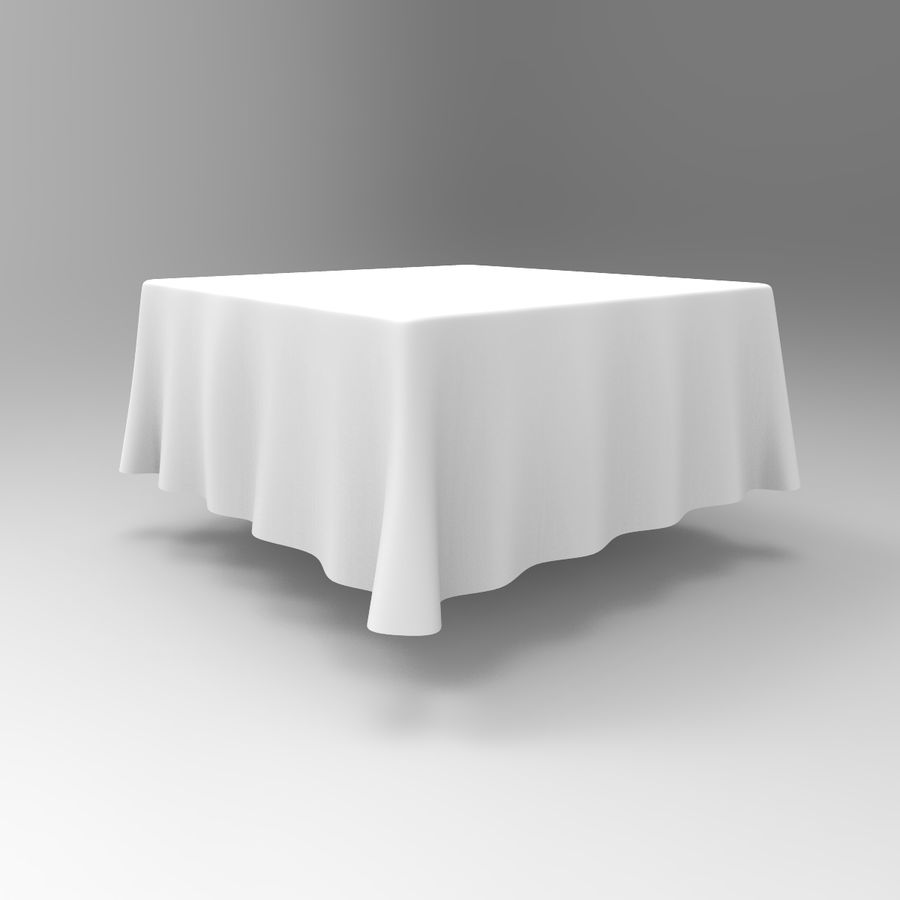 TableCloth cuadrado royalty-free modelo 3d - Preview no. 2