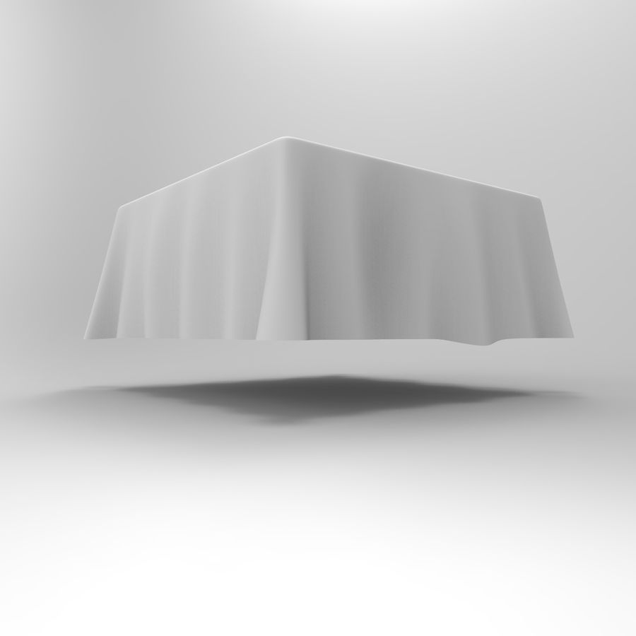 TableCloth cuadrado royalty-free modelo 3d - Preview no. 4
