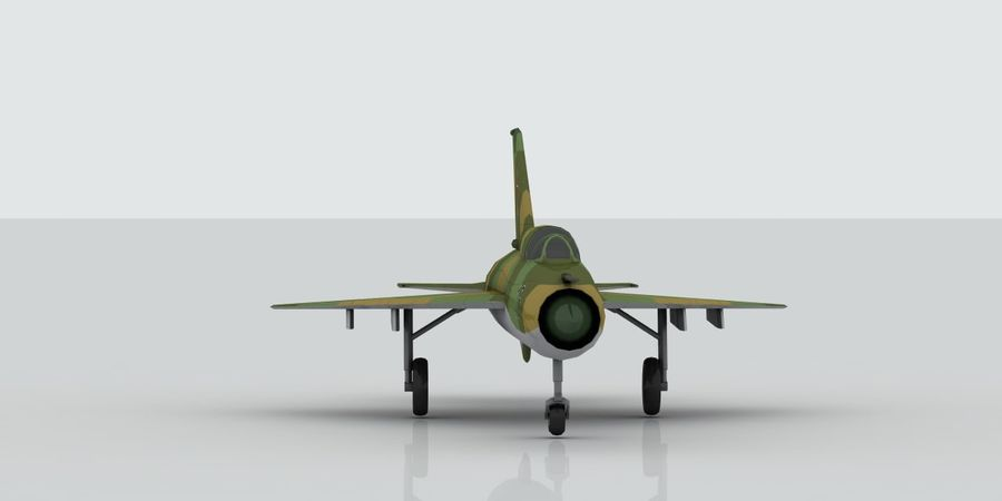 Mig 21 Skin 3 royalty-free 3d model - Preview no. 2