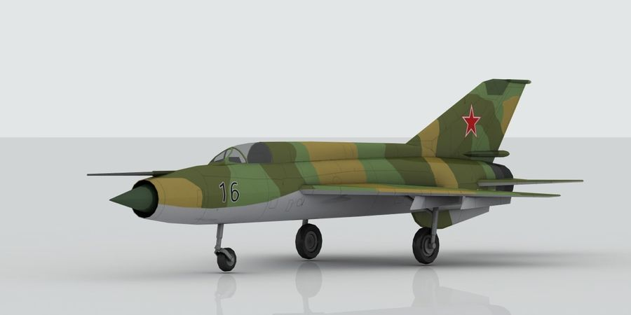 Mig 21 Skin 3 royalty-free 3d model - Preview no. 8