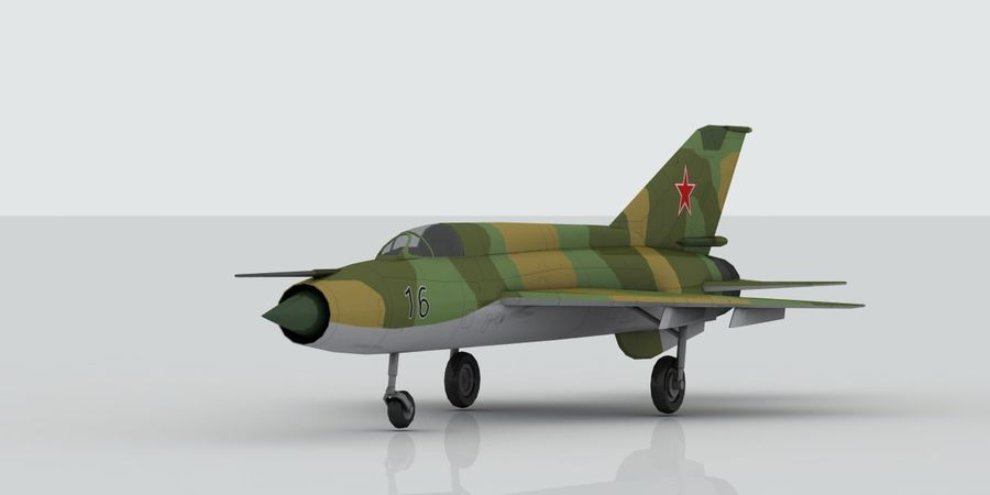 Mig 21 Skin 3 royalty-free 3d model - Preview no. 1