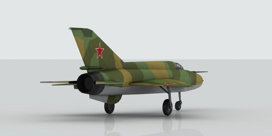 Mig 21 Skin 3 royalty-free 3d model - Preview no. 6