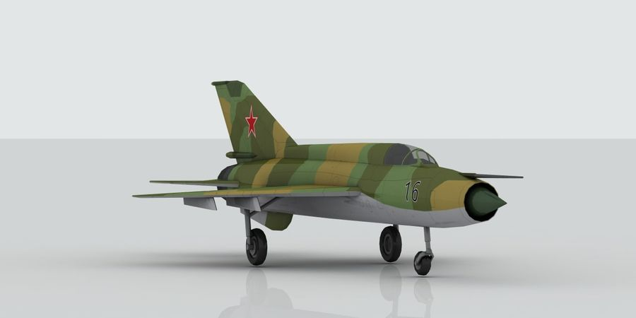 Mig 21 Skin 3 royalty-free 3d model - Preview no. 4