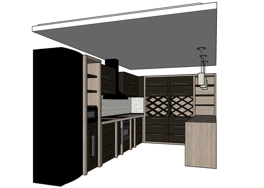 Kitchen 3 royalty-free 3d model - Preview no. 8