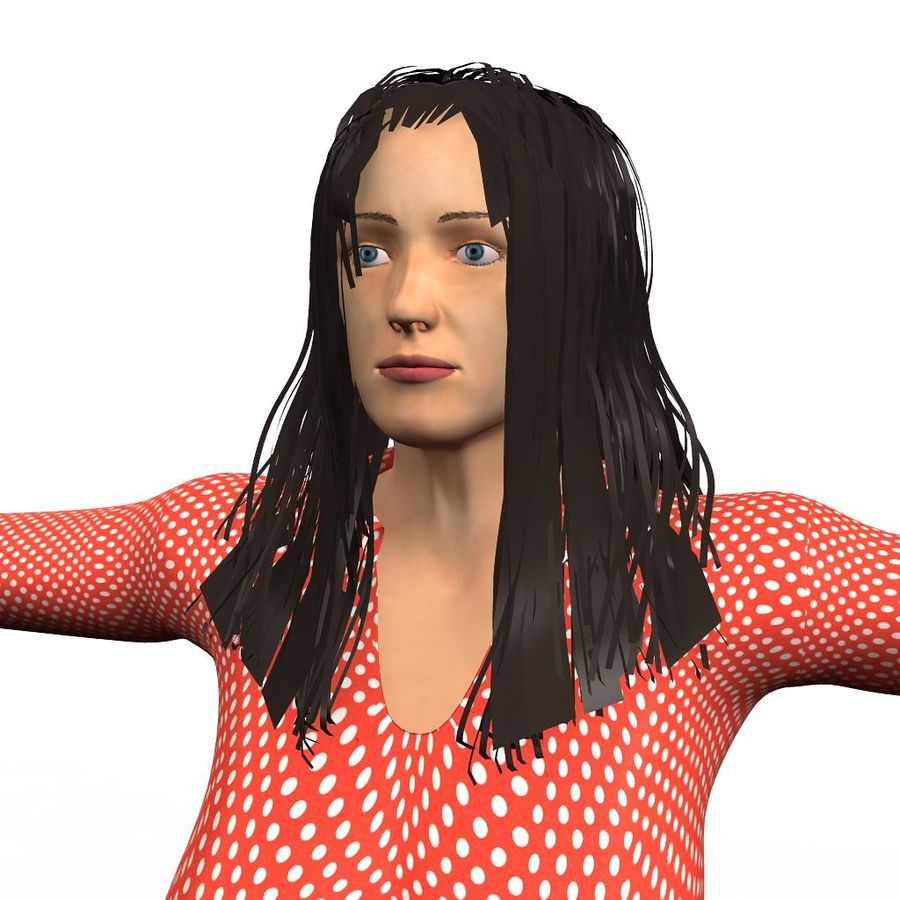 Corporate woman royalty-free 3d model - Preview no. 2