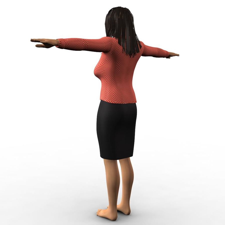 Corporate woman royalty-free 3d model - Preview no. 5