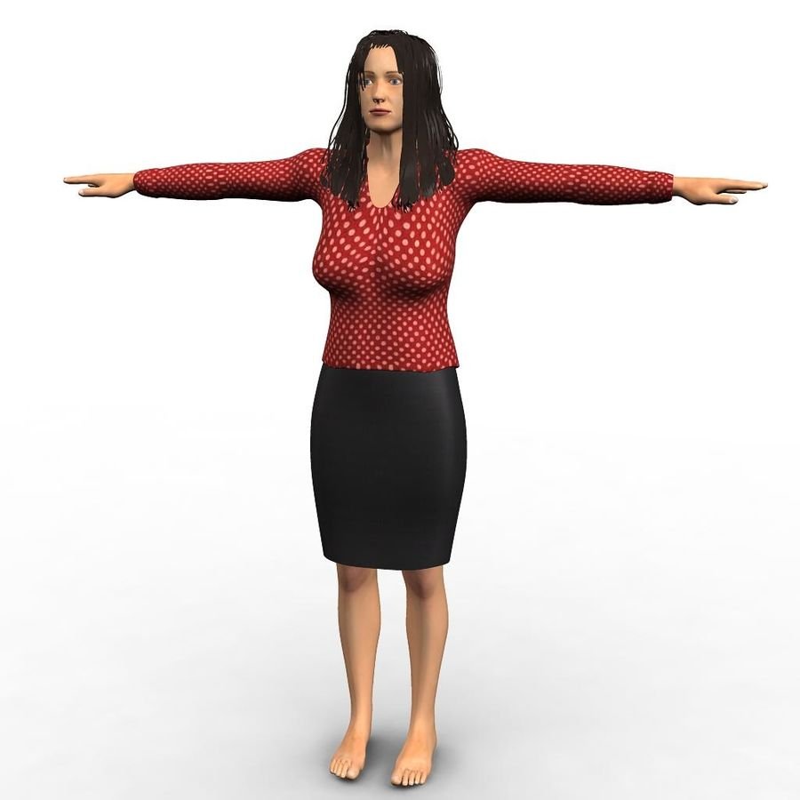 Corporate woman royalty-free 3d model - Preview no. 1