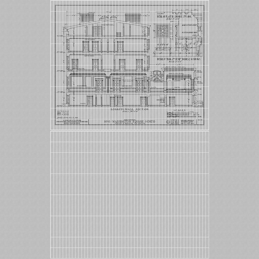 房子蓝图 royalty-free 3d model - Preview no. 15