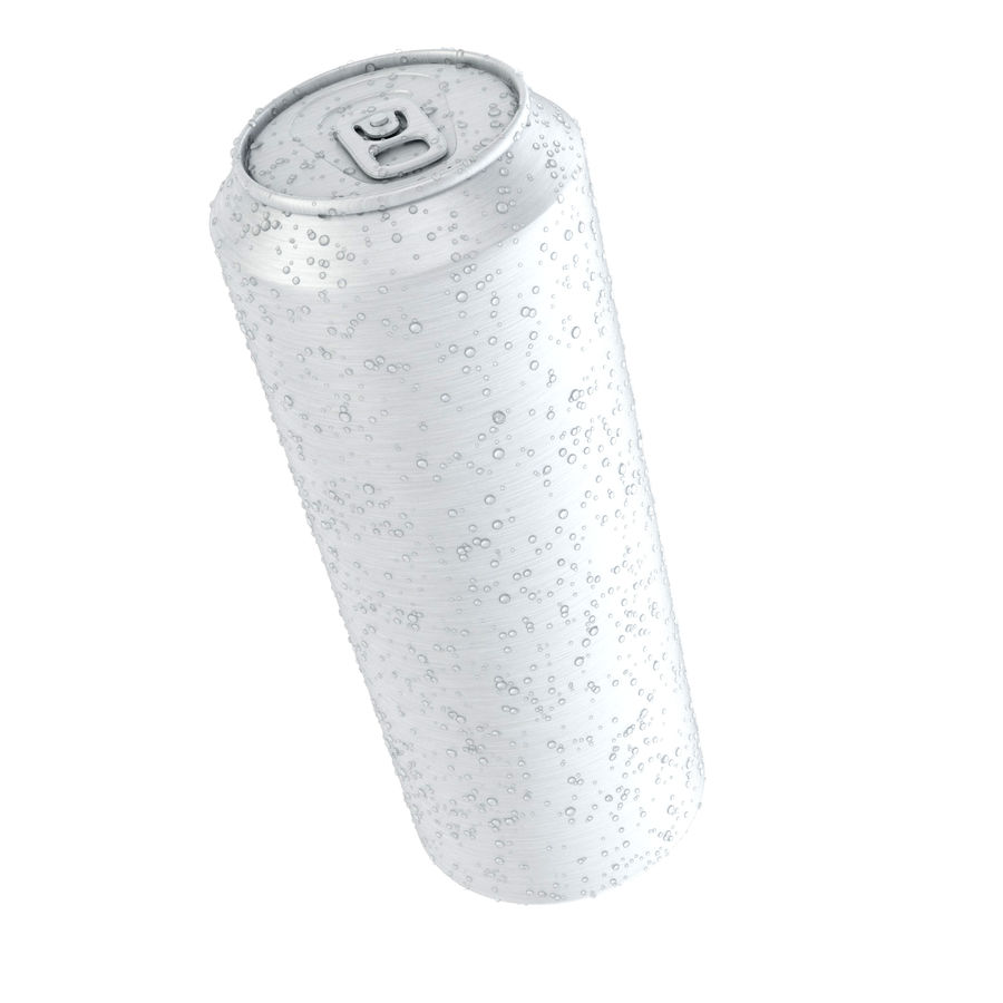 Can With Water Drops 500ml royalty-free 3d model - Preview no. 4