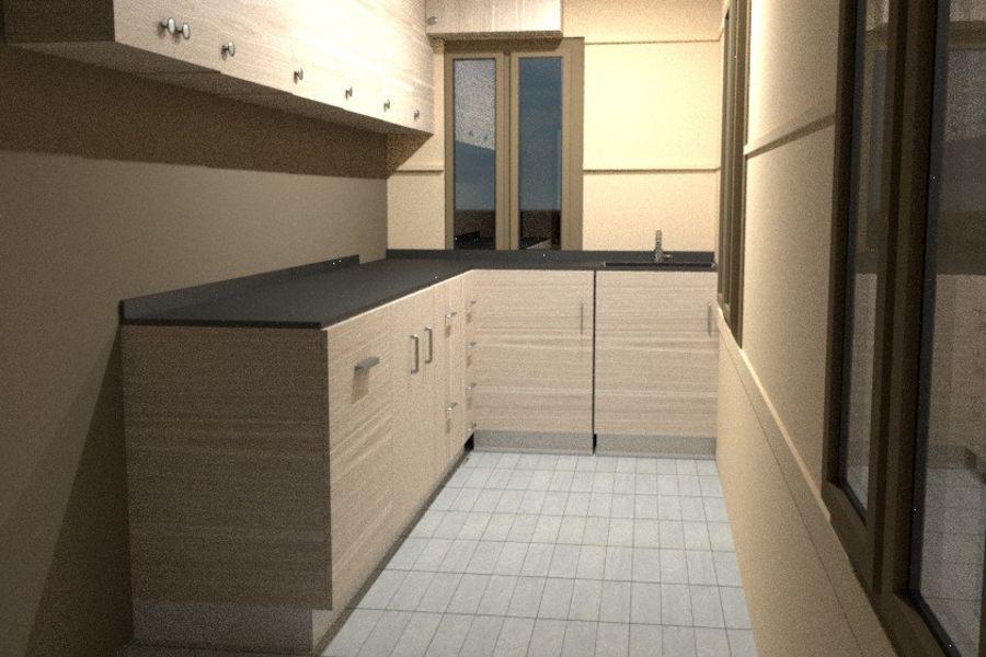 Villa_House_Interior ed Exterior royalty-free 3d model - Preview no. 13