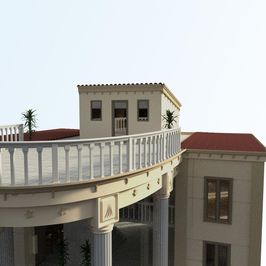 Villa_House_Interior ed Exterior royalty-free 3d model - Preview no. 6