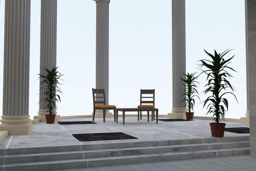 Villa_House_Interior ed Exterior royalty-free 3d model - Preview no. 10