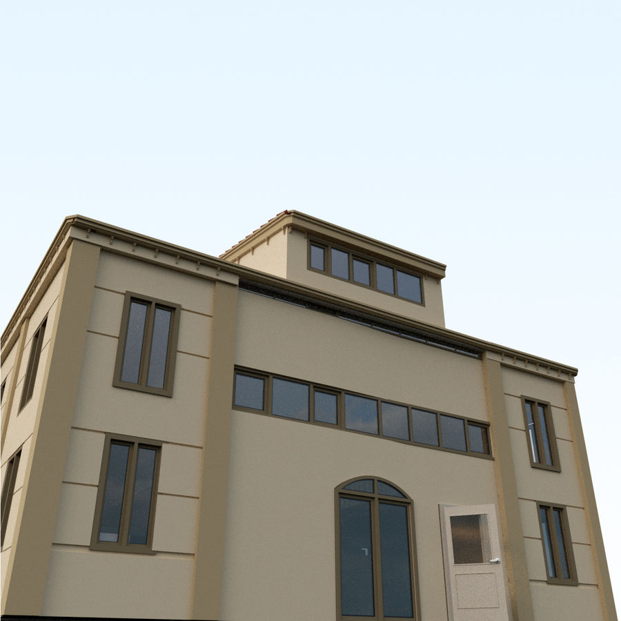 Villa_House_Interior ed Exterior royalty-free 3d model - Preview no. 2