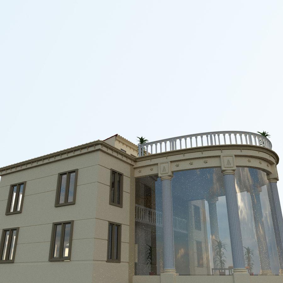 Villa_House_Interior ed Exterior royalty-free 3d model - Preview no. 4